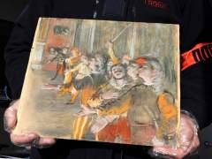 Confirman que el cuadro hallado en un bus es un Degas robado
