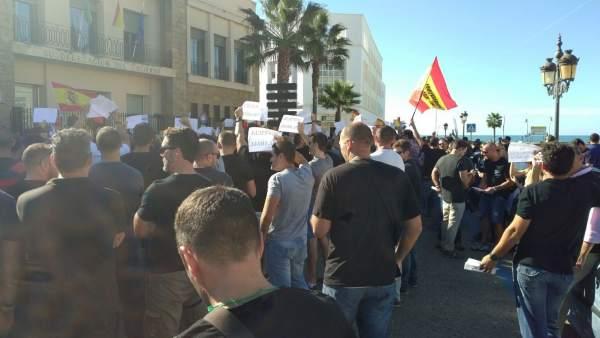 Manifestación de Jusapol en Cádiz