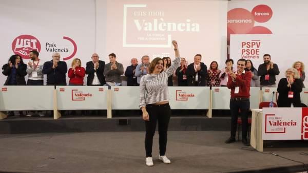 Sandra Gómez, en el congreso comarcal del PSPV