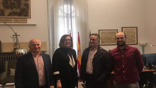 Palencia.- Reunión entre la Institución provincial y el Ayuntamiento de Velilla