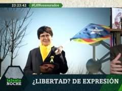 """Un policía, a Joaquín Reyes disfrazado de Puigdemont: """"No está la cosa para bromitas"""""""