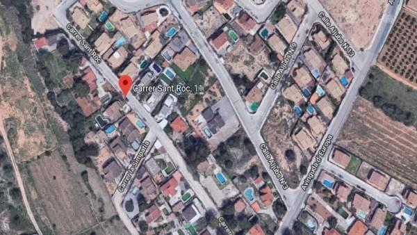 Zona donde se ubica la vivienda afectada