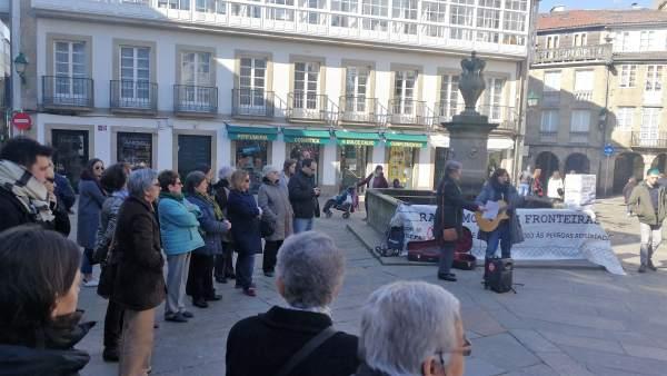 Manifestación de la Rede Galega de Apoio ás Persoas Refuxiadas