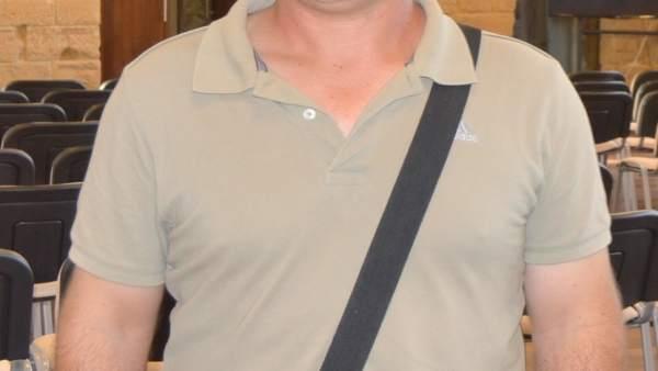 Portavoz de CHA en Caspe, Rafael Guardia.