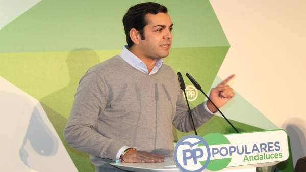 El presidente del PP de Jaén, Juan Diego Requena.