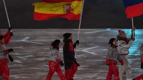 Javier Fernández ceremonia clausura Juegos Olímpicos de Invierno de PyeongChang