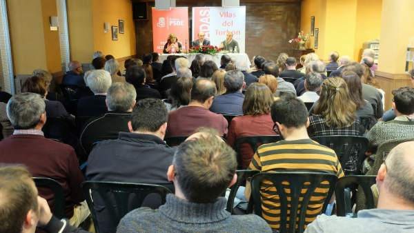 Clausura de las jornadas del PSOE en Vilas del Turbon.