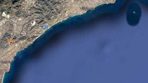 Mar entre El Campello y la Vila Joiosa
