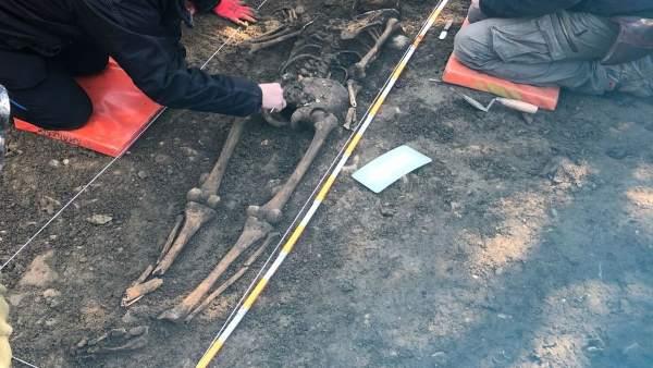Encontrados en Olabe los restos de un evadido del fuerte de Ezkaba.