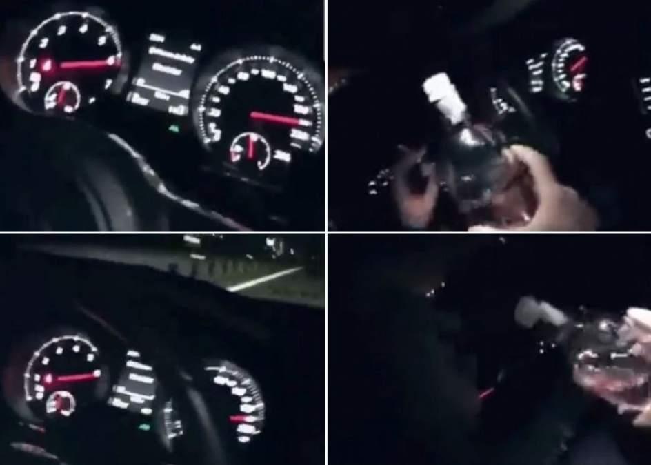 Resultado de imagen de Denuncian a un conductor que se grabó bebiendo ginebra a 200 kilómetros/hora