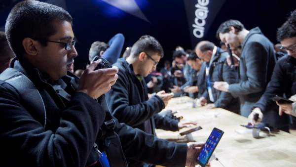 Asistentes al Mobile World Congress