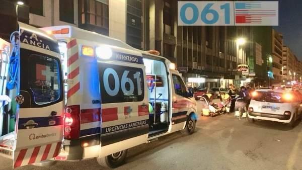 Los servicios de emergencias en el atropello