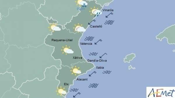 El cel se n'anirà ennuvolant al llarg del dia i pot ploure en la mitat nord de Castelló