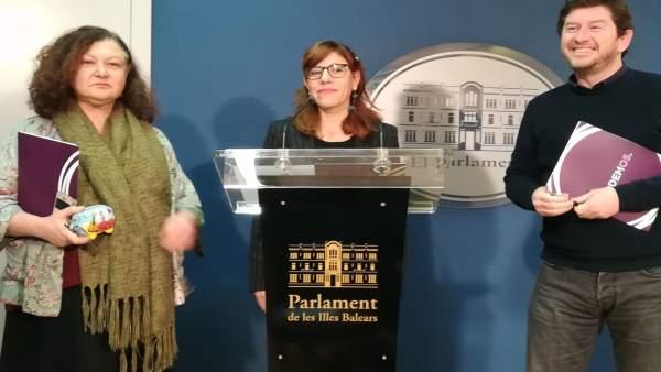 Mae de la Concha, Laura Camargo y Alberto Jarabo
