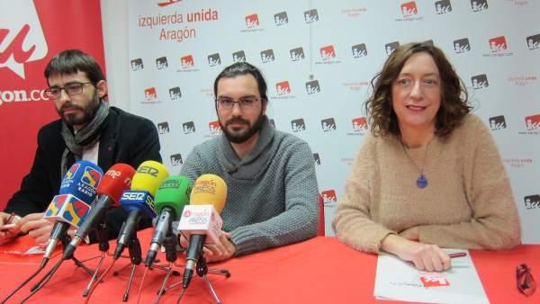 Álvaro Sanz, Jorge Sanz Y Patricia Luquin, De IU Aragón
