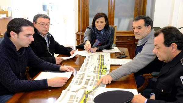 Reunión Ayuntamiento-asociaciones de taxi sobre el carril del MetroTUS