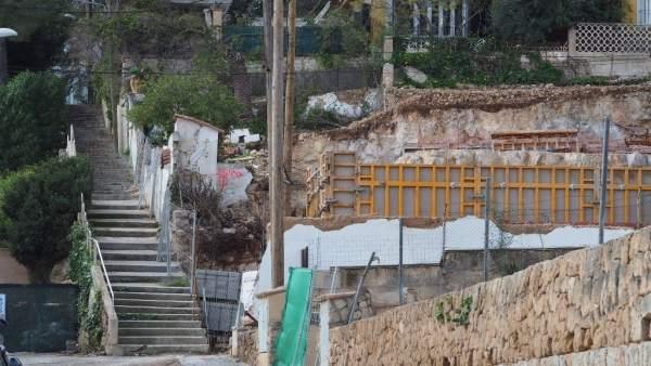 Obras en el barrio de Sant Agustí