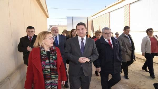 El presidente regional, Emiliano García-Page, visita Casas Ibáñez