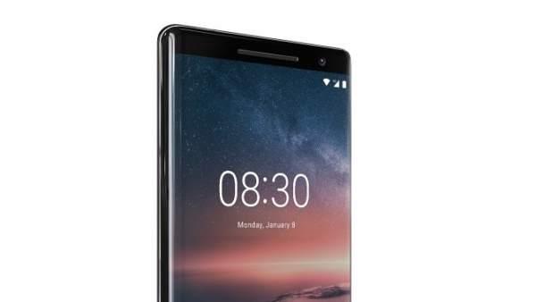 Nuevo Nokia 8 Sirocco, presentado en el Mobile World Congress 2018.