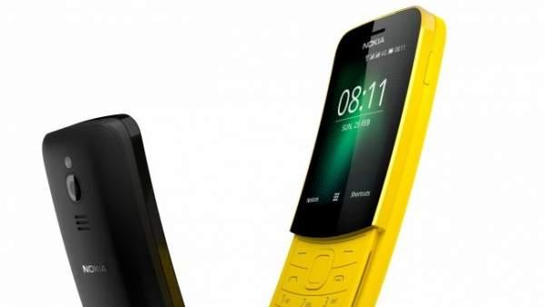 Nokia 8110, el terminal vintage y asequible de la marca con tecnología 4G incorporada.