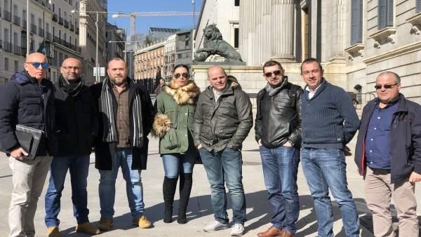 Delegación de IU y CCOO de Asturias en Madrid