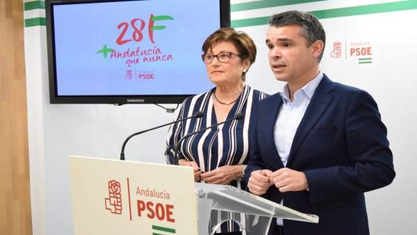 Los socialistas José Bernal y Marisa Bustinduy