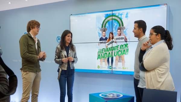 NNGG presenta la campaña  'Levántate por Andalucía'