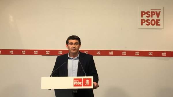 """Rodríguez (PSPV): """"No tindria molt de sentit fer una campanya en la qual ens tiràrem els trastos"""" amb Compromís"""
