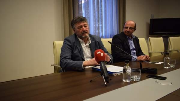 Ángel Calvo (izda) y Francisco Castañón (dcha).