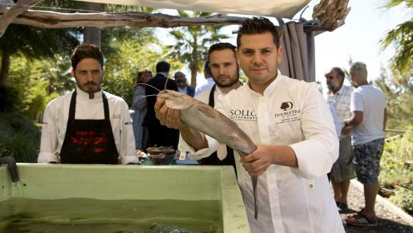 Diego GAllegos Sollo restaurante usa acuaponía sotenibilidad y huerta ecológica