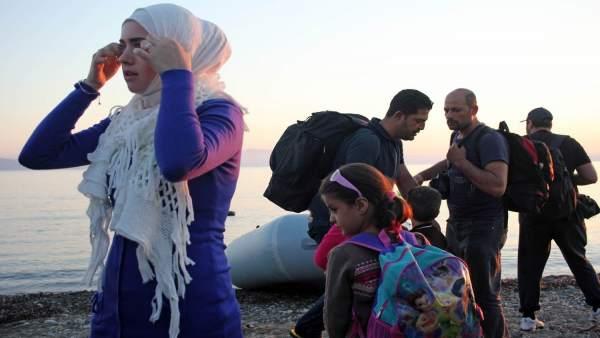 Personas refugiadas en Europa
