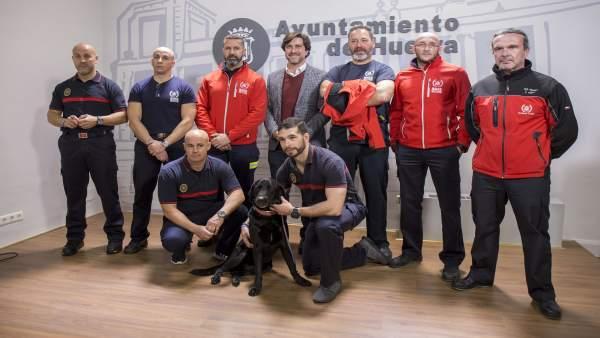 Miembros de BUSF de Huelva.