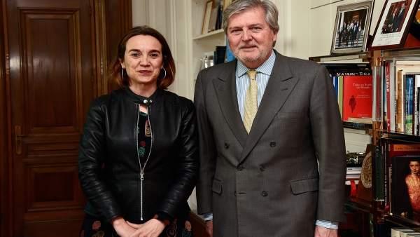 Gamarra con el ministro de Cultura