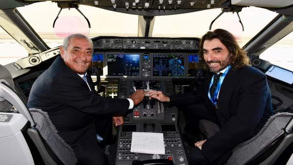 Juan José Hidalgo, presidente de Globalia junto al CEO, Javier Hidalgo
