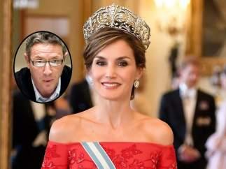 La reina Letizia a la derecha, y Alonso Guerrero a la izquierda.