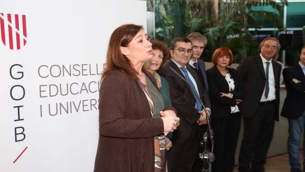 Armengol en la inauguración de la sede de la Conselleria de Educación