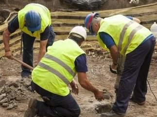Excavación en el pozo de Tenoya