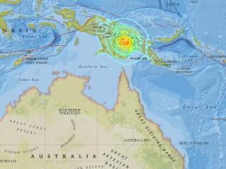 Terremoto en Papúa Nueva Guinea