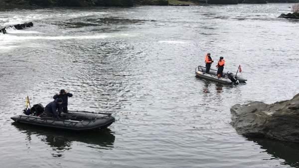 Búsqueda de pescador portugués desaparecido en el Río Miño