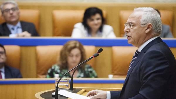 El presidente del Gobierno, José Ignacio Ceniceros, en el Parlamento