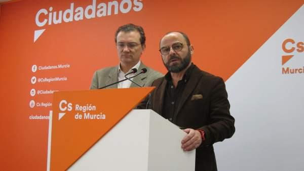 Los diputados José Luis Martínez y Miguel Garaulet de Cs