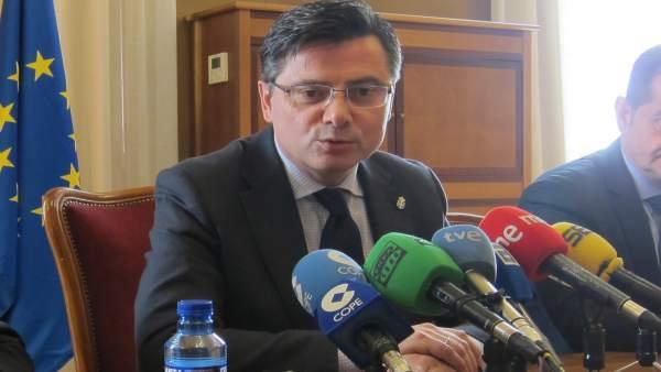 El Presidente De La Junta General Del Principado De Asturias, Pedro Sanjurjo