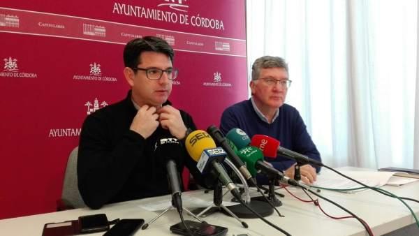 Pedro García y Emilio García en la rueda de prensa