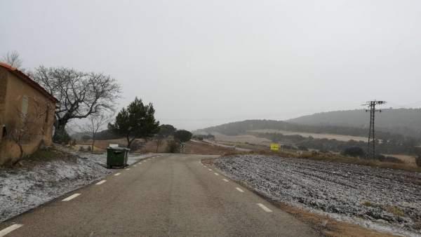 La neu es deixa veure en l'interior de la província de Castelló i a València