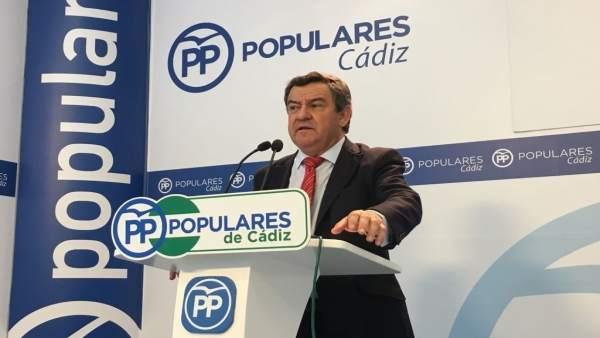 José Loaiza, portavoz del PP en Diputación de Cádiz