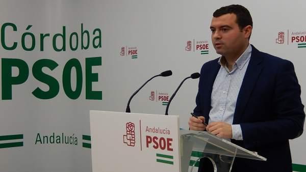 José Manuel Mármol en la sede del PSOE de Córdoba