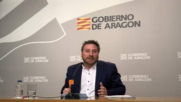 José Luis Soro ha presentado hoy la Estrategia Aragonesa de Conectividad Aérea