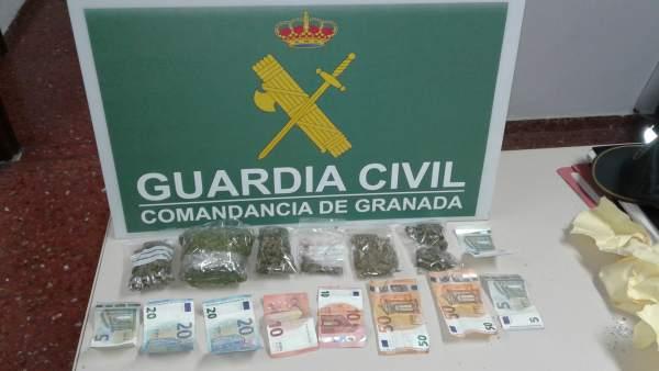 Material interceptado en una operación de la Guardia Civil