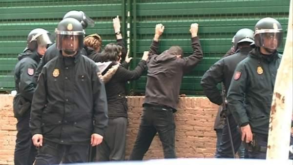 La Policía detiene a algunos manifestantes el 14N