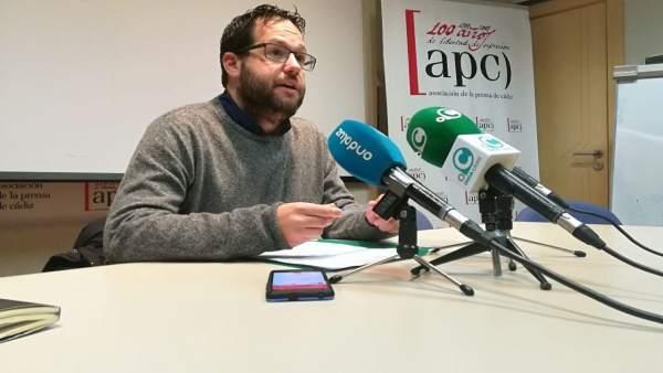 El coordinador provincial de Podemos, José Ignacio Garcia